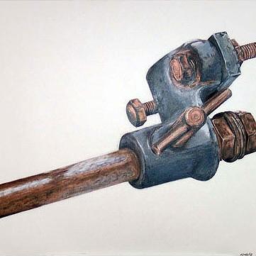 Zeichnung: Polychroms auf Papier