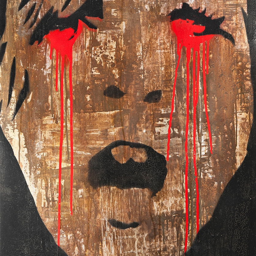 Kunstgemälde: Mixed Media, Titel: Bloody Sunday