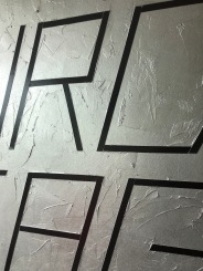 structured silver magnetic wall